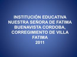 INSTITUCIÓN EDUCATIVA NUESTRA SEÑORA DE FATIMA