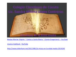 mester de juglaría - Colegio Claretiano de Cúcuta
