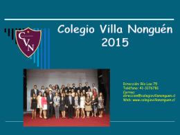 Génesis del Colegio Villa Nonguén
