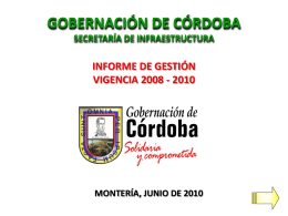 Presentación Asamblea - Gobernación de Córdoba