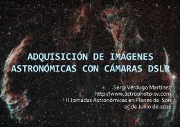 ADQUISICIÓN de imágenes astronómicas con