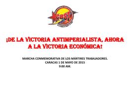 presentacion 1ero de mayo 2015