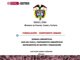 normas urbanísticas, usos del suelo y tratamientos urbanísticos