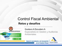 Tipos de control fiscal Ambiental