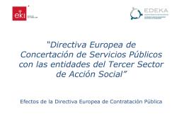 Directiva Europea de Contratación de Servicios Públicos