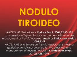 Nódulos tiroideos. Revisión de tema