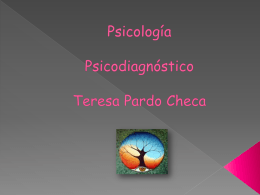 Diapositivas Psicodiagnostico