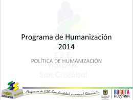 PROGRAMA DE HUMANIZACIÓN