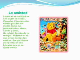 La amistad - Wikispaces