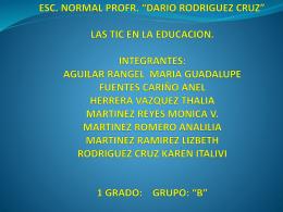 ESC - CURSO LAS TIC EN LA EDUCACION