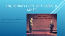Martí y las clases
