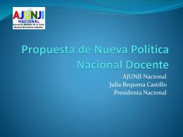 Propuesta de nueva política nacional docente