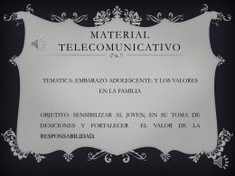 material telecomunicativo