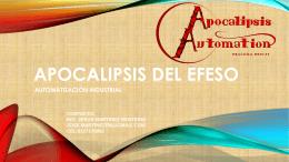 Presentación Comercial - Apocalipsis del Efeso SA de CV