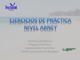 Ejercicios de Práctica Nivel Abney - Puerto Rico Sea Grant College