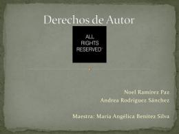Derechos de Autor - derecho2bcela2011