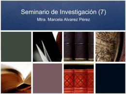 Seminario de Investigación