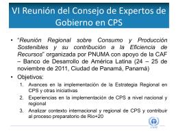 V Reunión Regional en CPS para América Latina y el Caribe