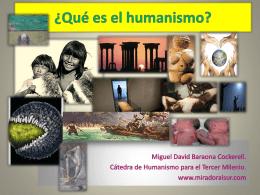 ¿Qué es el humanismo?