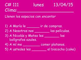 Calentamientos 111-119