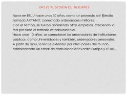 presentacion la historia del internet