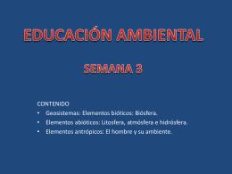 Semana 3 - Educación Ambiental