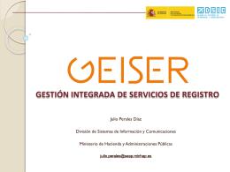 GEISER – Esquema - Portal administración electrónica