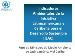 uso de los indicadores ILAC - Programa de las Naciones Unidas