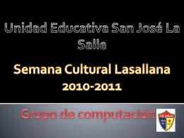 Semana cultural de computación - 2010-UESJLS