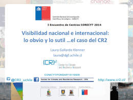 Centro de Ciencia del Clima y la Resiliencia (CR)2.