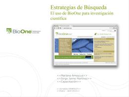 presentación bioone