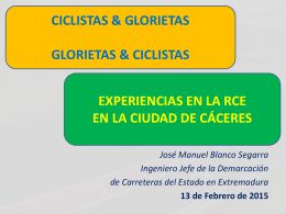 Glorietas y carril bici en Cáceres