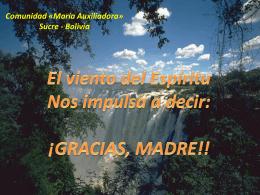 Comunidad «María Auxiliadora» Sucre - Bolivia -ppt