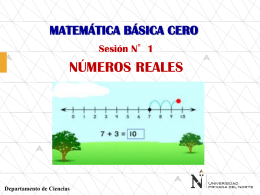 SESION 1 NUMEROS REALES ING