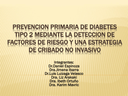 PREVENCION PRIMARIA DE DIABETES TIPO 2 MEDIANTE LA