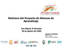 Noticiero del Proyecto de Alianzas de Aprendizaje
