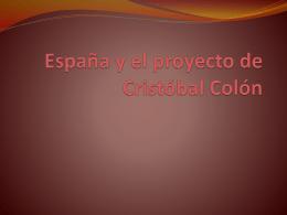 España y el proyecto de Cristóbal Colón