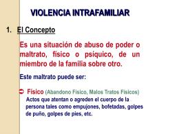 Violencia intrafamiliar - Colegio Adventista La Serena