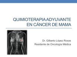 Quimioterapia adyuvante en cáncer de mama