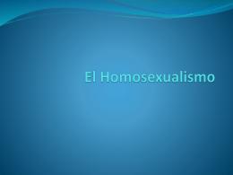 El Homosexualismo