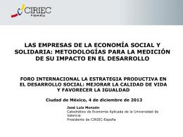 Las Empresas de la Economía social y solidaria
