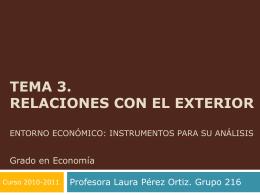 Entorno económico: instrumentos para su análisis