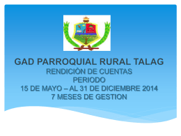 Presentación Rendición de Cuentas TALAG 2015