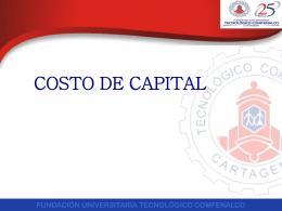 fundación universitaria tecnológico comfenalco costo de capital