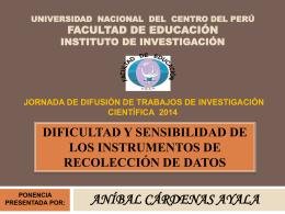 CÁRDENAS AYALA, Anibal - Facultad de Educación