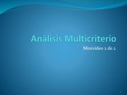 Análisis Multicriterio