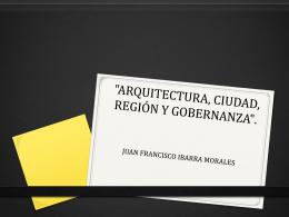 13. Arquitectura, Ciudad, Región y Gobernanza