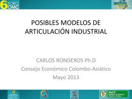 Posibles modelos de articulación industrial