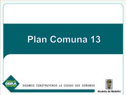 Plan de atención integral comuna 13