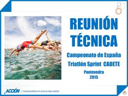 Reunion Tecnica Cadete - Federación Española de Triatlón